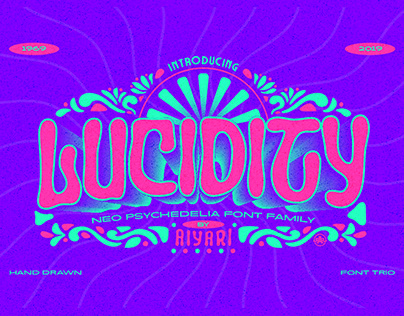 Lucidity Neo Psychedelia Font Trio