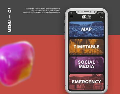 Soul Fest. Mobile UX/UI Design
