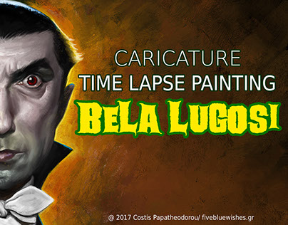 Bela Lugosi Caricature Halloween 2017