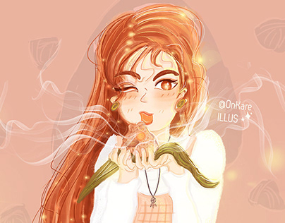 Girl Eat Zong Zi #OC