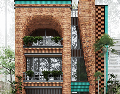 Brick House in Golestan, Iran by IVAN Architects