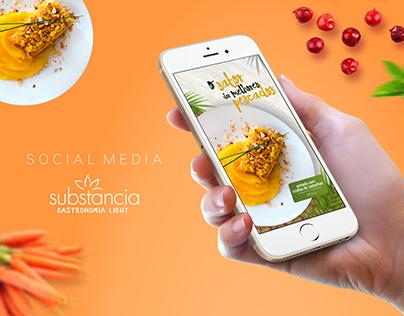 Social Media Substância Gastronomia Light