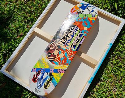 Skate deck paint