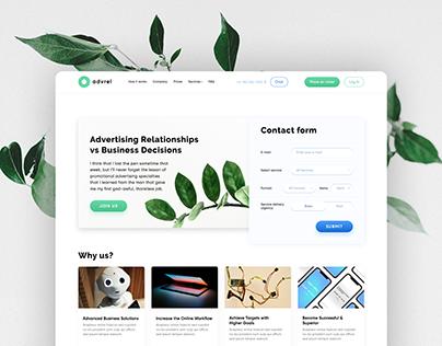 Advrel — simple web-page