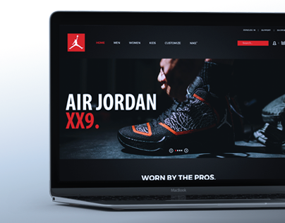 Air Jordan Website Concept