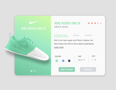 Dribbble Style-Pop-up Card