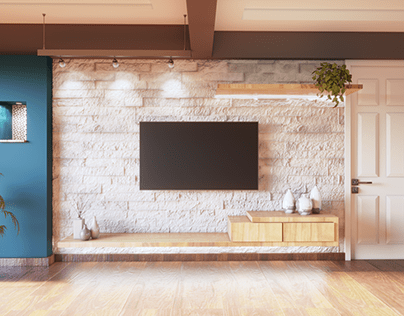 New 3d Visualisation of Living and Bedroom