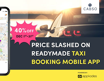 Price Slashed On Readymade Taxi Booking Mobile App