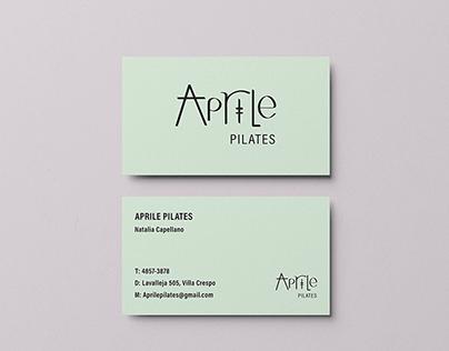 Logo design, Aprile Pilates, Argentina