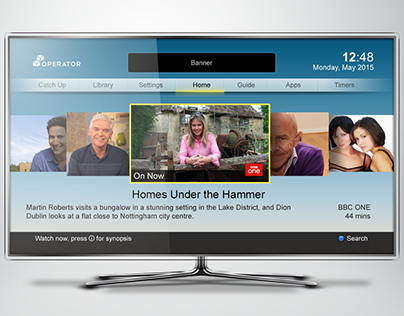Concept UI for internet enabled TV/STBs - #3