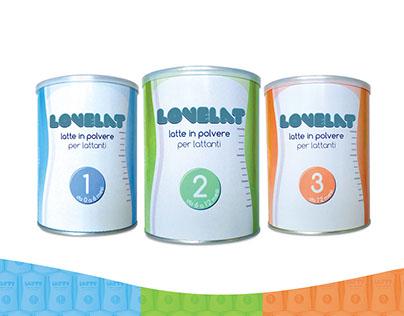 Packaging e logotipo - Latte in polvere