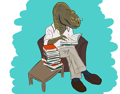 Professor Dinosaur | Illustration