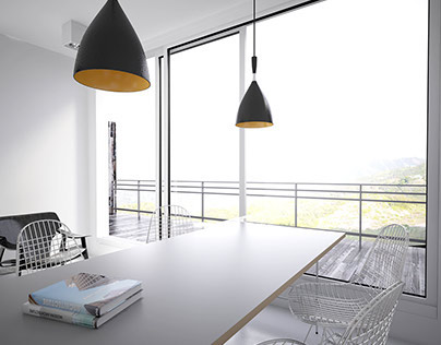 White minimalist interior