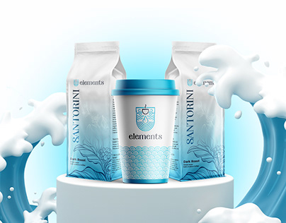 Elements Cafe - Brand Identity with coffee!