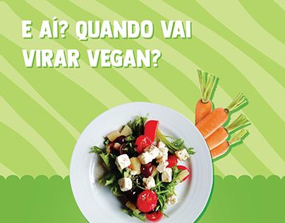 Social Media - Vegan Food and Fruits