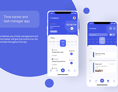 Time tracker and task manager app