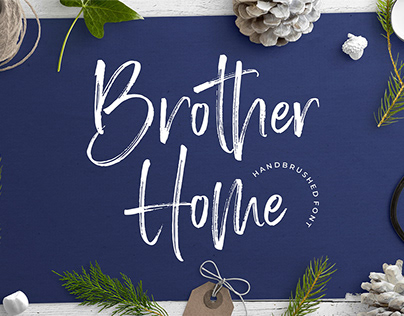 Free Brother Home Brush Font