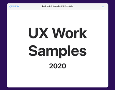 UX Work Samples