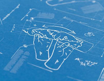 POSTER BLUE PRINT LOOK