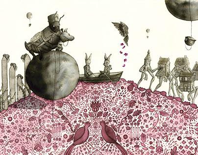 "Illustration for ""Ulrica"" - Jorge Luis Borges"