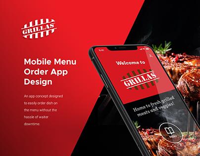 UI/UX   Menu Order App - Grillas