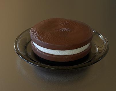 Ice cream sandwich 3d modeling