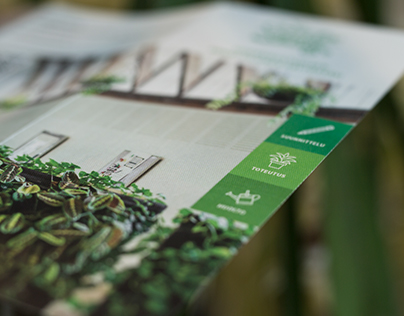 Trifold Brochure for Green Interior Design Agency