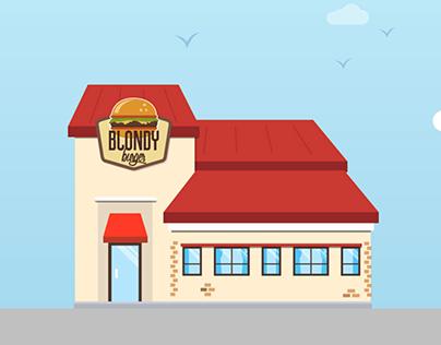 Blondy Burger - Motion Design