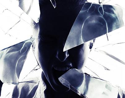 Broken Glass Photoshop Template