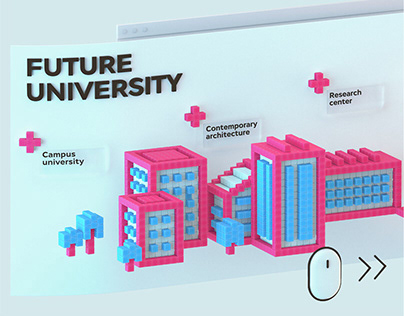 3D Identity & Website for the Kyiv American University