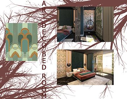 ART DECO BED ROOM