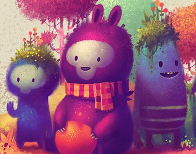 Three Amigos - made with Procreate