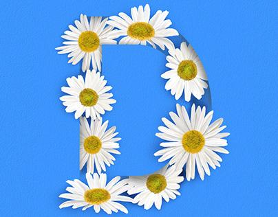 Floral Alphabet Series