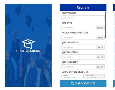 GradLeaders | Mobile Job Feed App