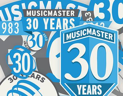 MusicMaster: Logo - 30th Anniversary (Process)