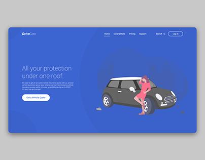 Vehicle Insurance Landing Page - Daily UI #003