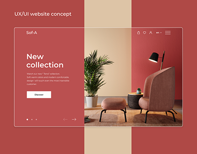 Furniture store - website concept