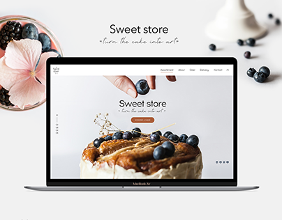 Website Sweet Store / Bakery