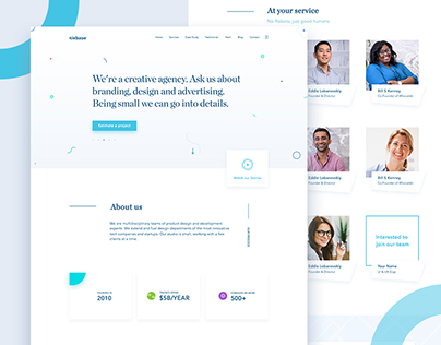 Agency Website Design Exploration