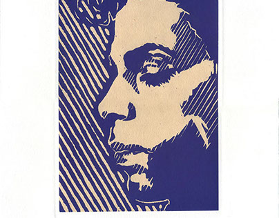 "Printmaking: ""Dearly Beloved"" chine-colle woodblock"