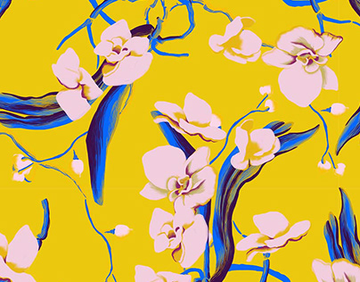 'orchid' aw 19/20 textile surface design