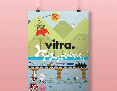 Vitra: Corporate Calendar & Merchandise, Illustration.
