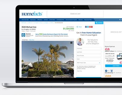 Homefacts - Website Redesign