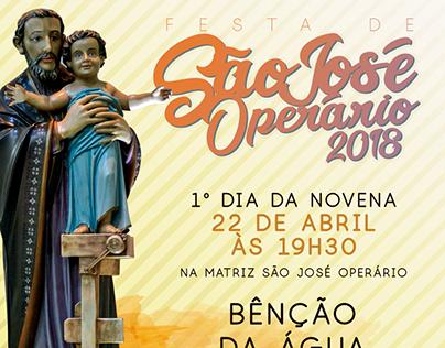 Redes Sociais - Festa São José Operário - 2018