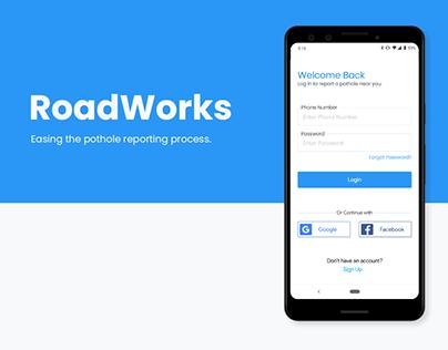 Roadworks - Pothole Reporting application