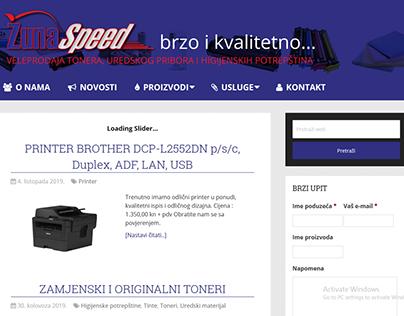 Izrada web stranice za veleprodaju Žuna speed