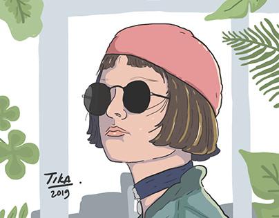 Mathilda Lando (LEON: The Profesional) illustration