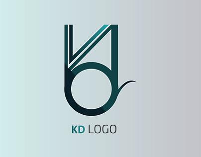KD Word abbreviation logo modern