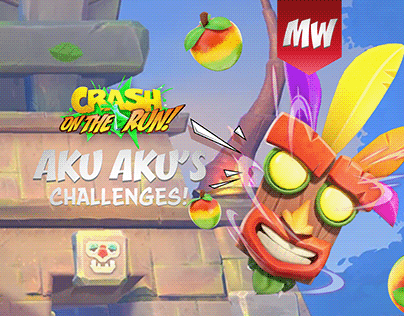 Aku Aku's Challenges - Crash Bandicoot: On the Run!