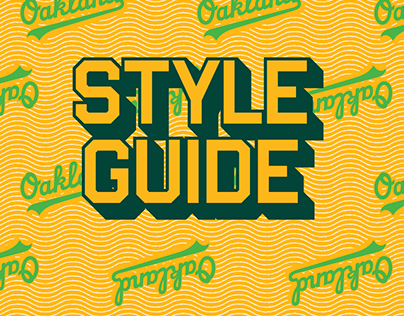 Oakland A's 2020 Style Guide